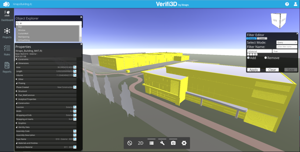 Model checking using Verifi3D